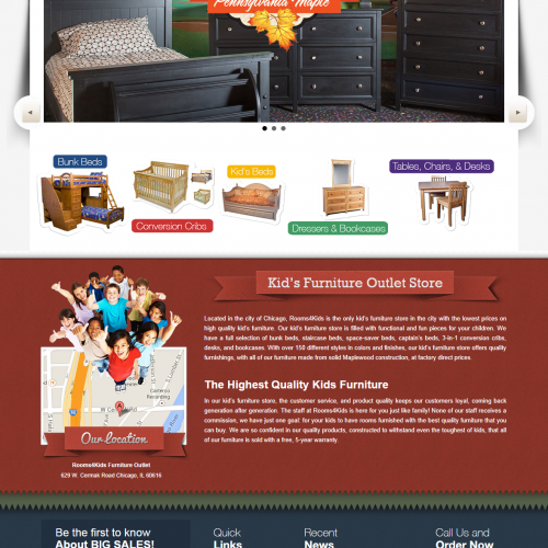 Hardwood Kids Furniture   Outlet Store
