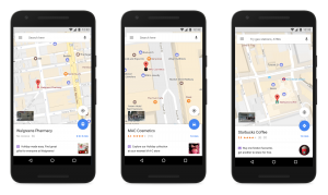 Google Maps App Showing Promoted Places Local Search Ads