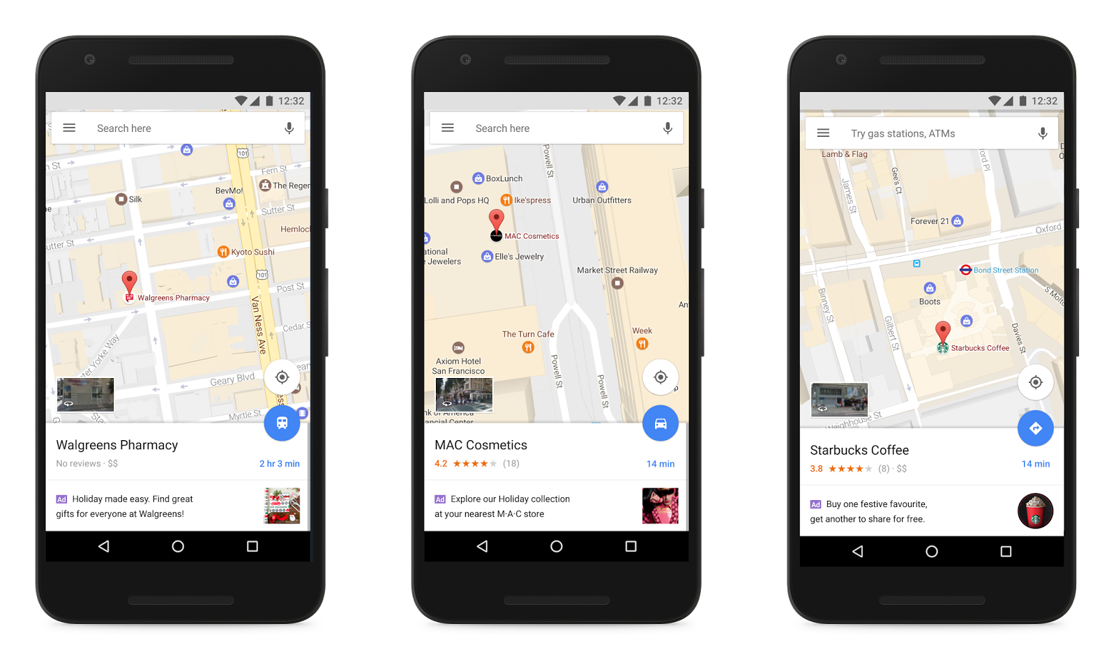 Google Maps and In-app Local Search Ads