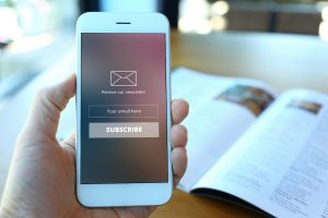 Email Marketing Example on Mobile Phone